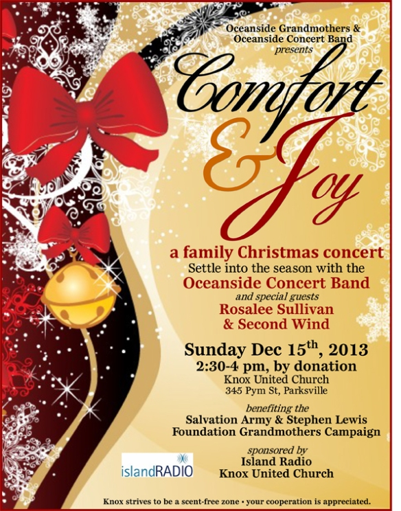 2013 G2G Christmas Concert Poster