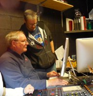 soundbooth, behind scenes